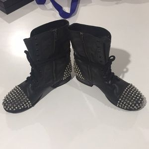 Bad Girl combat boots with studded toes & heels!